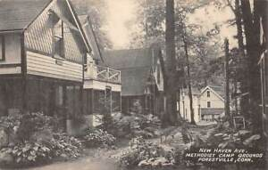 FORESTVILLE, BRISTOL, CT, METHODIST CAMP GRD. NEW HAVEN AVE COLLOTYPE 1930-40's