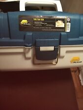 Plano Tackle Box 2 Tray Blue Met/Off White Md#: 6102-06 New with stickers Wow