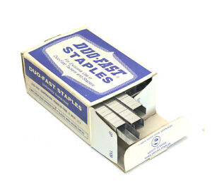 "Vintage Duo-Fast Staples 5/16"" 5010-C 5000 Box"