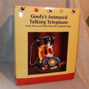 MIB New DISNEY Vintage GOOFY's Animated Talking Telephone Corded Landline Phone