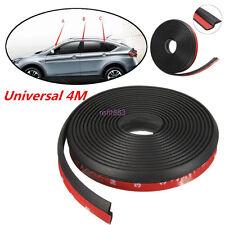 4M Black Z-shape Window Door Rubber Seal Weather Strip Hollow Car Weatherstrip