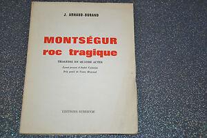 Montségur - Roc tragique - Arnaud-Durand / Bois gravé de Mazereel  (C3)