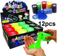 12 pcs Barrel O Slime Stress Relief Party Favours Silly Crazy Toy Novelty Colour
