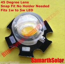 10pcs 1W 5W LED LENSES 45 Degree SNAP FIT Reflector Collimator Growlights PMMA
