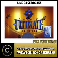 2015-16 UPPER DECK ULTIMATE (10) BOX FULL CASE BREAK #H212 - PICK YOUR TEAM -