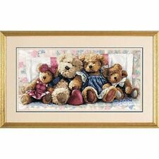 Dimensions-compté gold cross stitch kit-une rangée d'amour-teddy bear-D35039