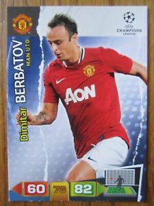 Dimitar Berbatov of Manchester United Champions League 2011/12 base card