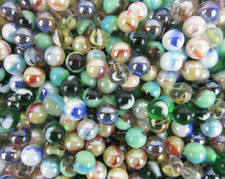 Glass Pee Wee 12mm Marbles (set of 50) Greens, Cat Eyes from Bulk Assorted Lot