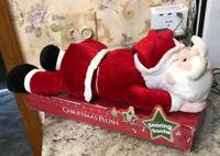 """Vintage Sleeping Snoring Santa Claus Animated Christmas Large 19"""" Long Talking"""