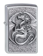 ZIPPO Benzin Feuerzeug Dragon 3D Emblem Drachen Plakette NEU PORTOFREI