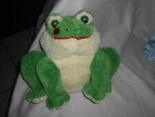 """carlton cards green cream fat frog red lips on cheeck 13"""" chubby sOft Lovey"""