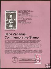 #1932 BABE ZAHARIAS, Woman Athlete in Golf and Field & Track 1981 Souvenir Page