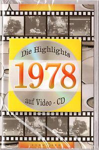 Geburtstagskarte Die Highlights von 1978! Mit Video-CD Jahreschronik, NEU + OVP!