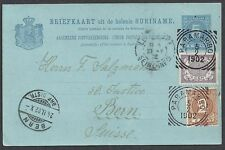 Surinam 1902 uprated Pc over France to Bern