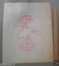 Minnie Mouse princess dancing pie-eyes Disney original pencil concept art