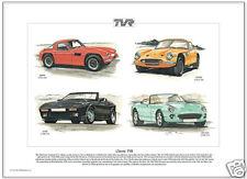 CLASSIC TVR Fine Art Print - Griffith 2500M Chimaera & 400SE models illustrated