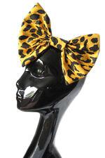 Gran arco de pelo-Amarillo leopardo Cabello Clip Indie Grunge 50s Goth Street Fashion