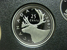 2007 Canadian Silver Proof Quarter ($0.25)
