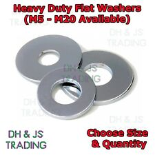 Metric Flat Washers - Heavy Duty Zinc Washer M5 M6 M8 M10 M12 M14 M16 M20 (BZP)