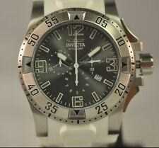 New Mens Rare Invicta 1414WH Chronograph White Rubber Summer Watch