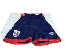 """Vintage 1992 Umbro Inglaterra Fútbol Pantalones Cortos Cintura 32"""" para hombre medio raro nos og"""