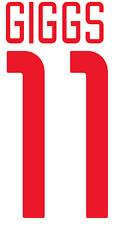 Manchester United Giggs Nameset Shirt Soccer Number Letter Heat Football Euro