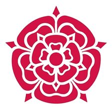 LANCASHIRE ROSE SET OF 2 CAR CAMPER SCOOTER STICKER