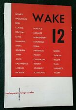 1953 Wake 12 First Edition ALFRED JARRY JEAN COCTEAU PAUL VALERY JACQUES PREVERT