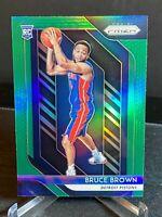 Bruce Brown Detroit Pistons 2018-19 Panini Prizm basketball Green Refractor RC