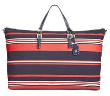Tommy Hilfiger NWT $148 Striped Julia Extra-Large Nylon Weekender Tote Crossbody