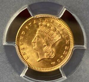 1873 G$1 Open 3 PCGS MS64 Shield