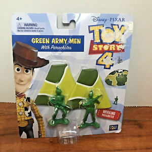 DISNEY PIXAR Toy Story 4 Green Army Men With Parachutes New w/ Damage Package 4+