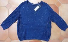 MARKS & SPENCER - Navy Jumper - NEW - £29.50 - Size 8 - Tiny sequins - REDUCED
