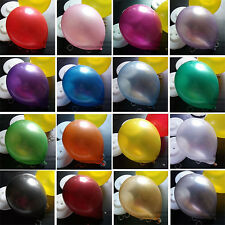 "12"" Latex Metallic Pearlised Quality Party Birthday Wedding Balloons AAAAA"