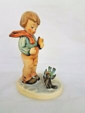 GOEBEL HUMMEL BOY FIGURINE BIRD WATCHER FEEDING BIRDS
