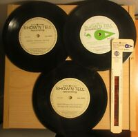 General Electric Show Tell picturesound program three 45 records one slide photo