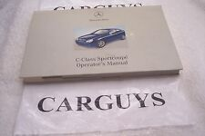 2002 MERCEDES CLASS C SPORT COUPE   OWNERS MANUAL WITH CASE