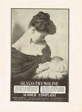 1912 Original Antique Kress Owen Glyco Thymoline Baby Drug Medicine Print Ad