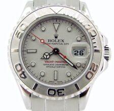 Rolex Yacht Master Lady Stainless Steel Watch Platinum Dial & Bezel 29mm 169622