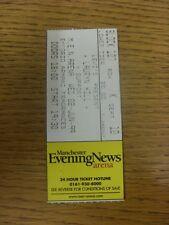 02/06/1999 Konzert Ticket: Lauryn Hill + unterstützen, auf Männer Arena (gefaltet). Danke