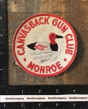Vintage Canvasback Gun Club Monroe Michigan Hunting Patch