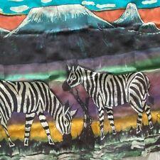 African Safari Zebra Prairie Mt Kenya Wall Hanging Panel Hand Crafted Large