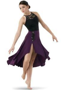 Dance Costume Medium Adult Eggplant Lyrical Contemporary Elegant Weissman