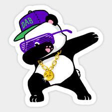 "#4829 Dabbing Panda Dab Dope Waterproof 9x8cm 3/"" Decal Sticker"