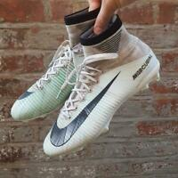 Nike Mercurial Superfly V UK 8.5 CR7 FG Football boots White Flyknit 852511-401