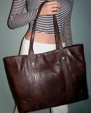 NEW Frye DB181 Melissa Shopper, Antique Pull Up Leather (Slate) NWT $358