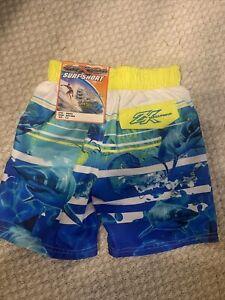 ZeroXPosur Boys Shark Swim Surf Shorts Microfiber UPF50+ Size S-4 NEW