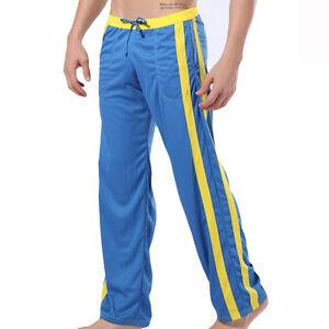 WJ Wang Jiang Herren Fitnesshose Loungwear Sporthose Jogginghose Loungehose Blau