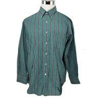 Vintage Sears Roebuck & Co Men's Shirt Size 17.5 34/35 Single Needle Tailoring