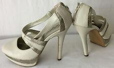 NEW LOOK Ladies Women Nude MaryJane Platform Shoe Size Uk 5 Eu 38. VGC !!!